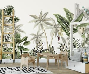 kids wallpaper, tropical wallpaper, and etsy image
