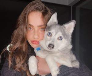 dog, girl, and yael shelbia image