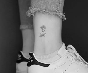 ✾ fine line tattoo by Keya I know it's classic, by I love rose tattoos so much!  ⑅ @princesse_alice