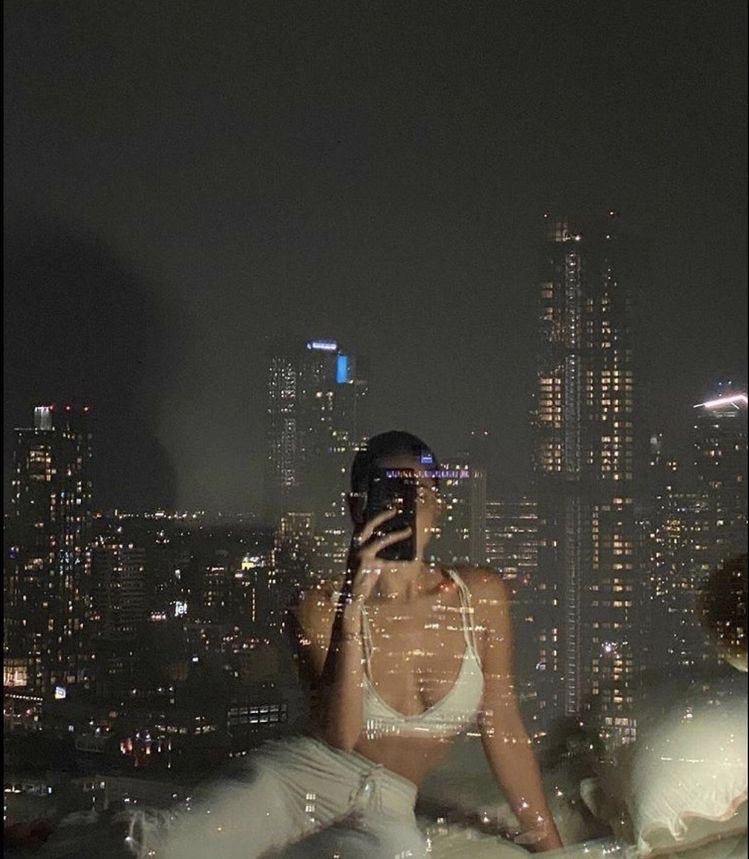 city, lights, and aesthetic image