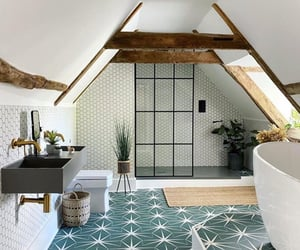 architecture, bathroom, and cosy image