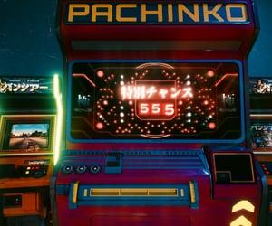 cyberpunk, pachinko, and arcade image