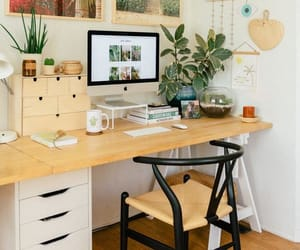 home office, home decor, and home interior image