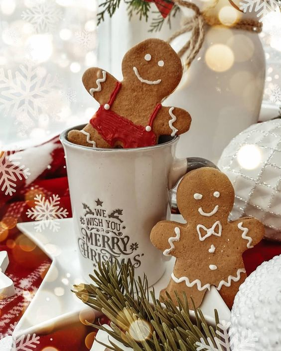 christmas, Christmas time, and gingerbread cookies image