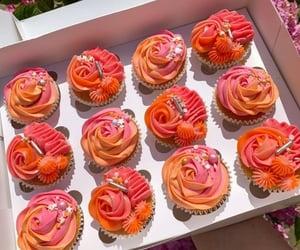 cupcake, food, and orange image