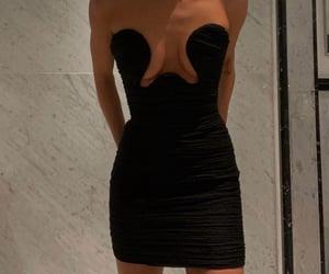 black and mini dress image