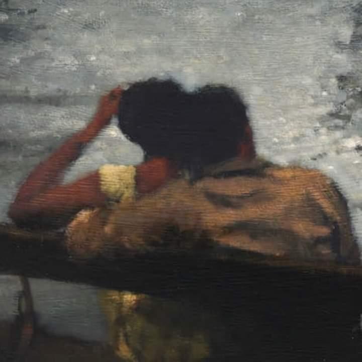 Image de art, couple, and paint