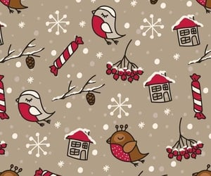 christmas, wallpaper, and birds image