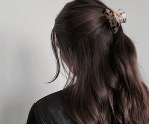 girl, hair, and brown hair image