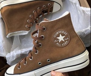 converse, brown, and shoes image
