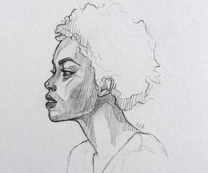 art, hair, and person image