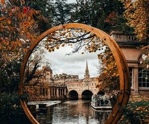 Autumn on the mirror