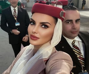 air hostess, DELTA, and emirates image