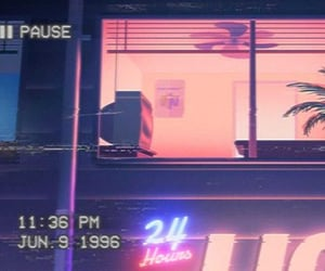 aesthetic, vaporwave, and retro image
