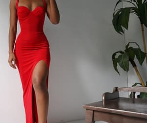 diva, dress, and red image