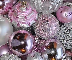 christmas, glitter, and ornaments image