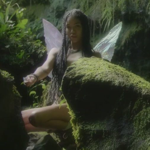 fairy, girl, and green image