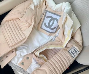 chanel, jacket, and puffer image