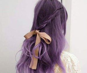 color hair, hairstyle, and purple hair image