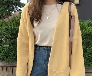 yellow, fashion, and kfashion image