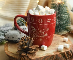 marshmallow, christmas, and cozy image