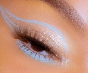 blue, make up, and aesthetic image