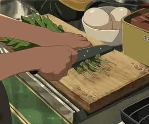 anime, cooking, and anime foods image