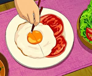 anime, anime foods, and cartoon image
