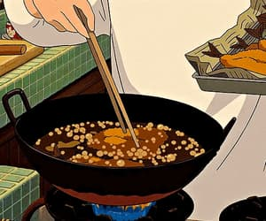 anime, cooking, and cartoon gifs image