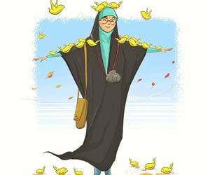 drawing, hijab, and رسومات image