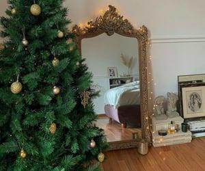 bedroom, christmas, and christmas tree image