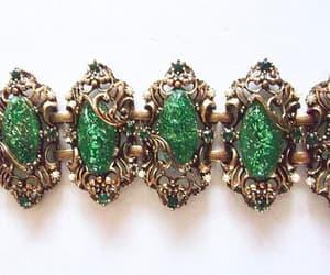 etsy, emerald green, and rhinestones image