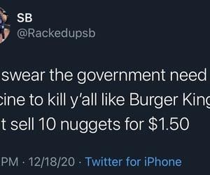 burger king, nuggets, and coronavirus image