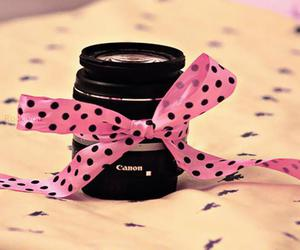 pink, canon, and bow image