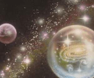 espacio, estrellas, and gif image