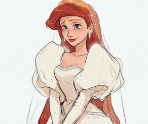 ariel, disney, and wedding image