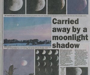 moon, newspaper, and aesthetic image