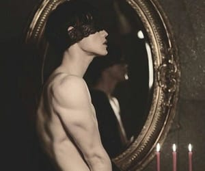 blindfold, mirror, and lace image