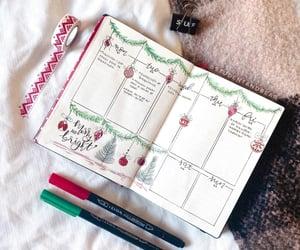 christmas, bujo, and studygram image