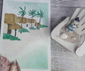watercolor, aquarela, and watercolour image