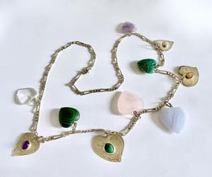 etsy, statement necklace, and charm necklace image