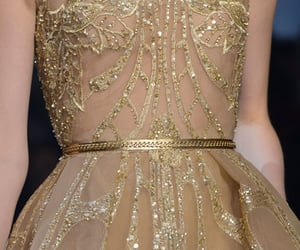 fashion, gold, and Couture image