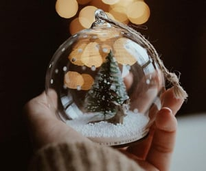 light, baubles, and christmas image