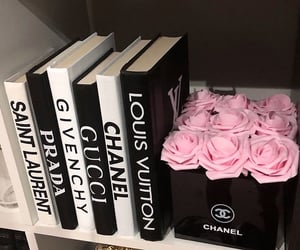 chanel, designer, and flowers image