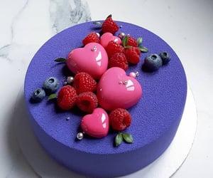 Bleu, cake, and nourriture image