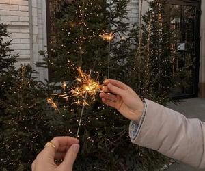 christmas, christmas tree, and firework image