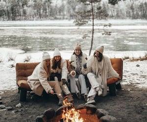 girls, holidays, and winter image