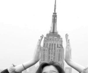 girl, black and white, and new york image