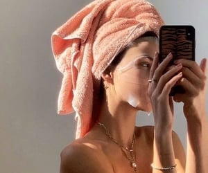 girl, face mask, and skincare image