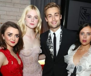 Elle Fanning, maisie williams, and douglas booth image